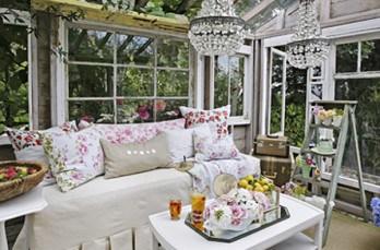 Glamorous vintage-inspired greenhouse