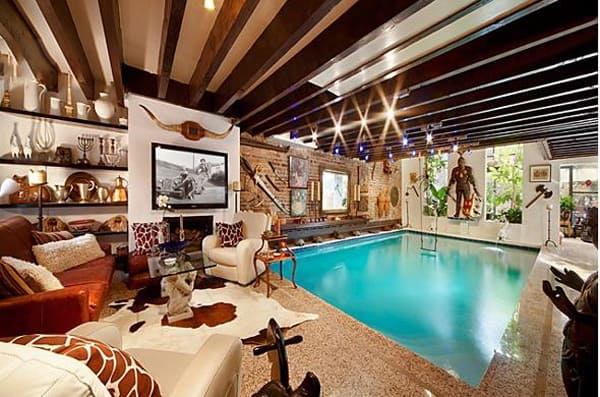 featured posts image for Chelsea townhouse with incredible living room pool