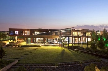 Steel and glass residence in South Africa