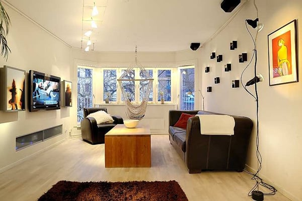 Impressive swedish apartment with clever design for Apartment one bedroom design