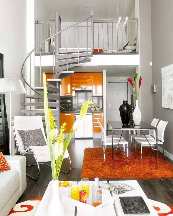 featured posts image for Small loft with bold colors in Madrid