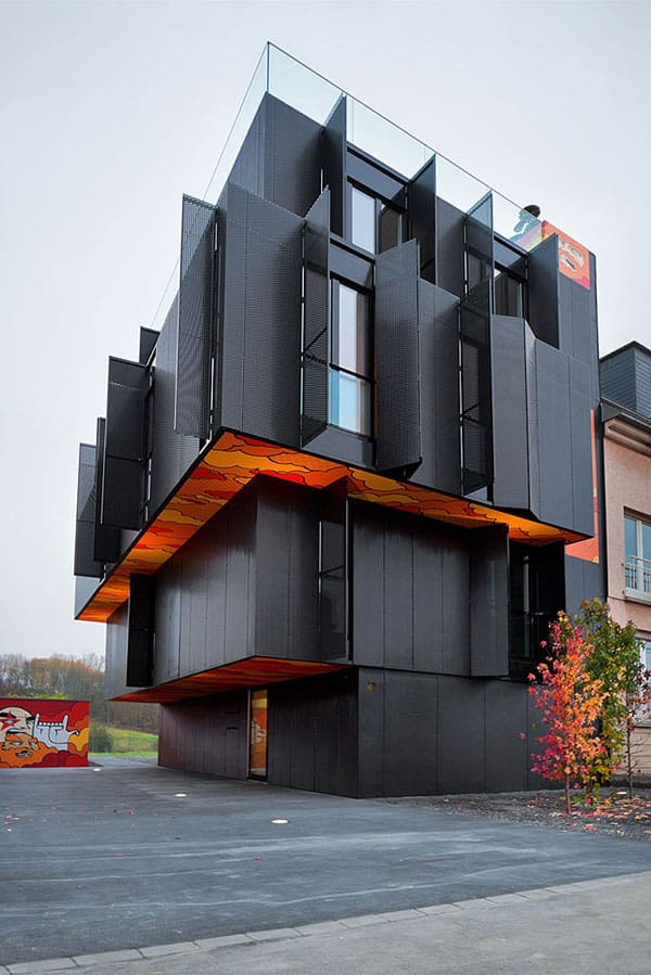 featured posts image for Monolithic apartment building with post-graffiti art