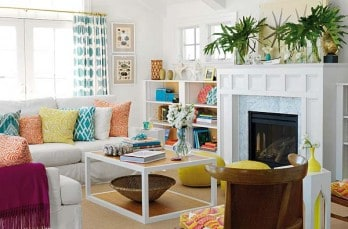 Bright and colorful surfer-chic beach house