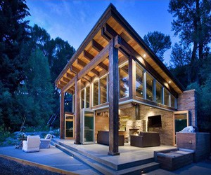 featured posts image for Woody Creek cabin on the rivers edge