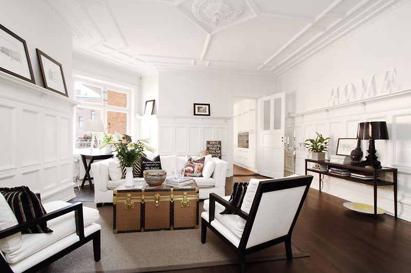 featured posts image for Charming Swedish apartment with lovely interiors