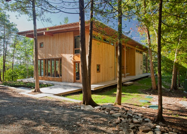 featured posts image for Post and beam vacation shelter on Georgian Bay