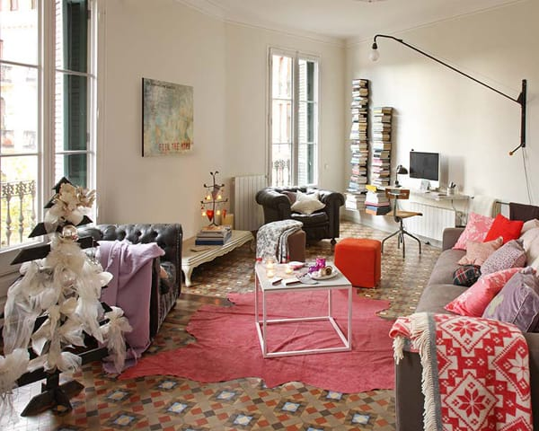 featured posts image for Retro-inspired Barcelona flat with cozy interiors
