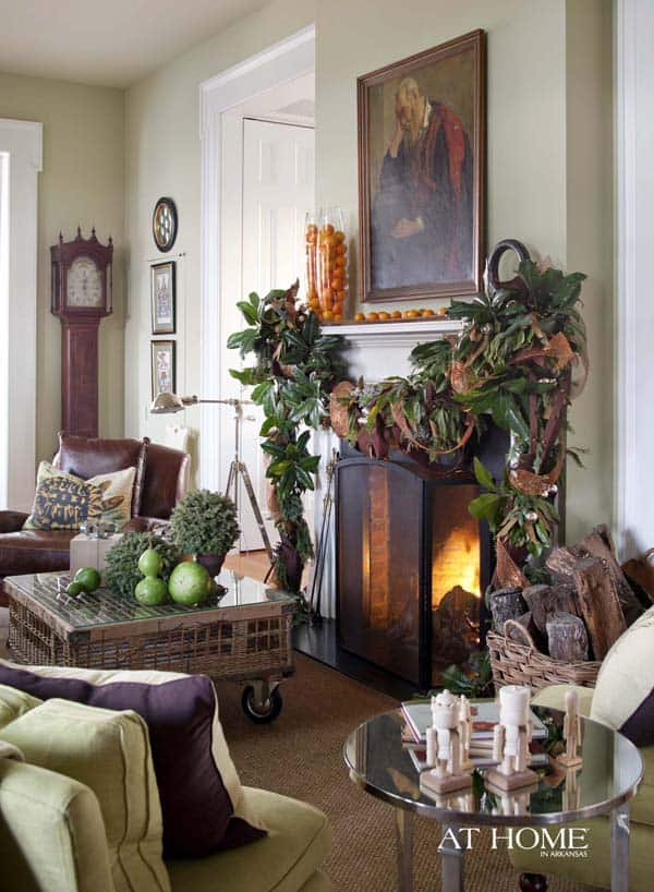 Moss mountain farm an arkansas holiday home for P allen smith living room