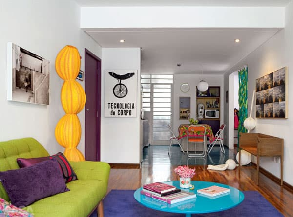featured posts image for Bold and colorful 65 square meters flat in São Paulo