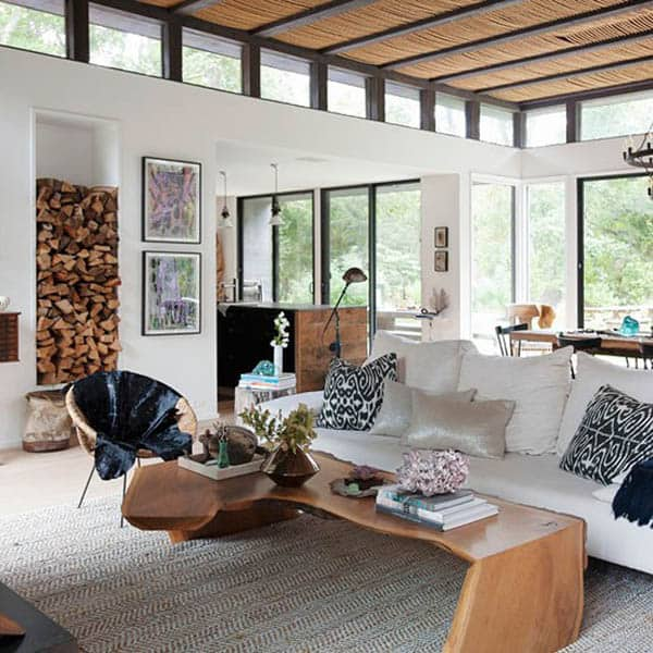 A modern rustic beach house in the hamptons for Hamptons beach house interiors