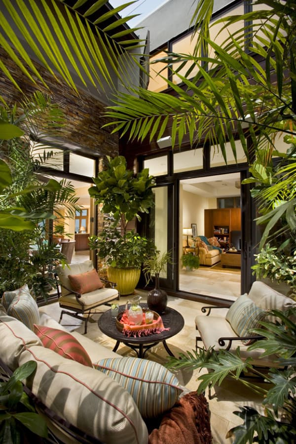 46 inspiring small veranda decorating ideas for Atrium design and decoration