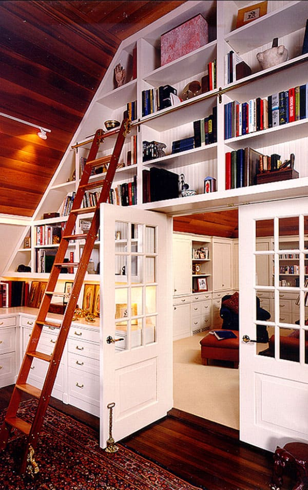 Home Library Design Ideas-12-1 Kindesign