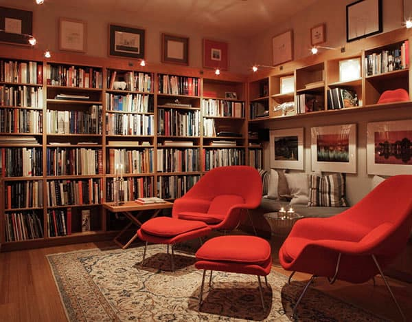 Home Library Design Ideas-15-1 Kindesign
