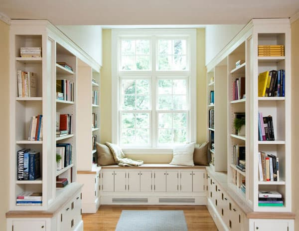 Home Library Design Ideas-16-1 Kindesign