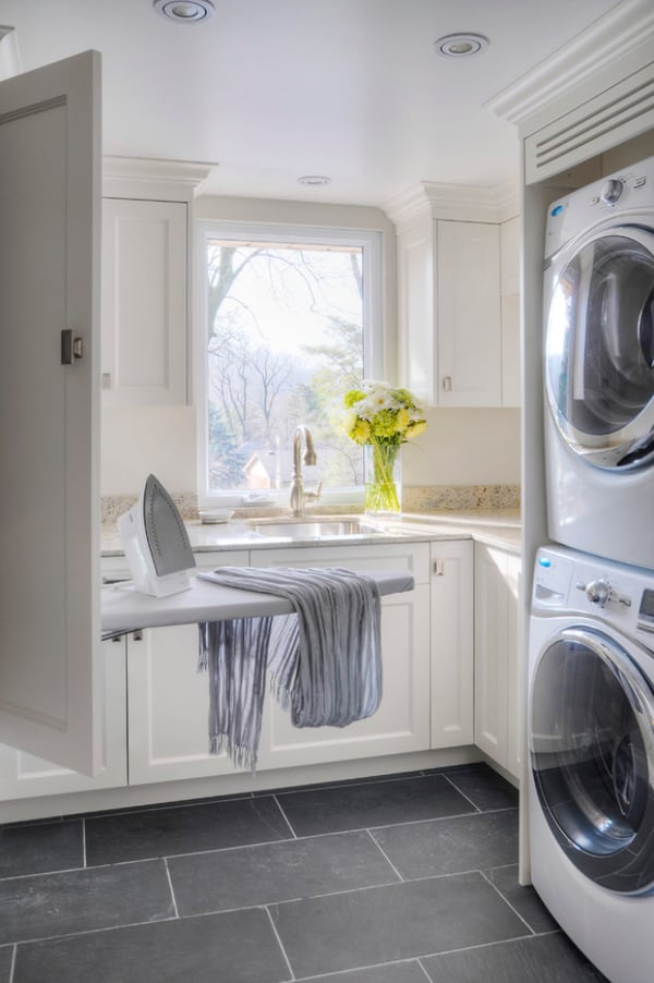 Laundry room floor ideas home design inside Design a laundr room laout