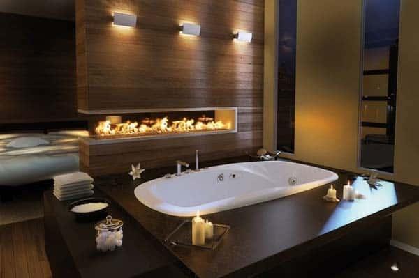 Bathroom Fireplace Ideas-04-1 Kindesign
