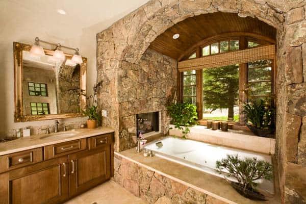 Bathroom Fireplace Ideas-05-1 Kindesign