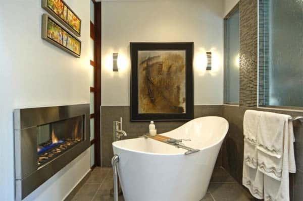 Bathroom Fireplace Ideas-06-1 Kindesign