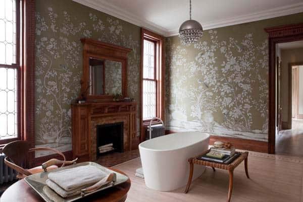Bathroom Fireplace Ideas-07-1 Kindesign