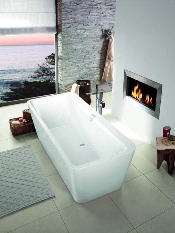 Bathroom Fireplace Ideas-11-1 Kindesign