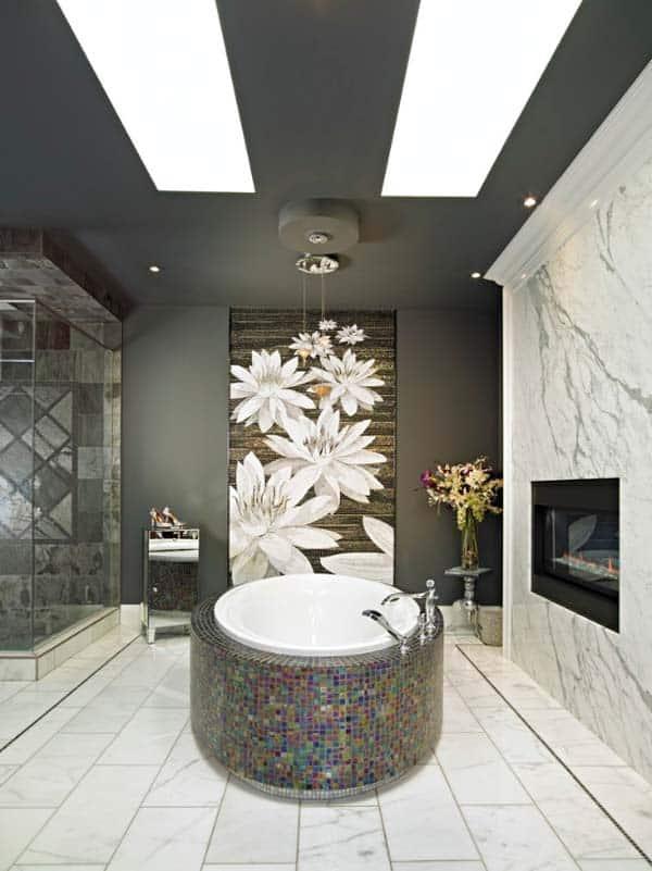 Bathroom Fireplace Ideas-13-1 Kindesign