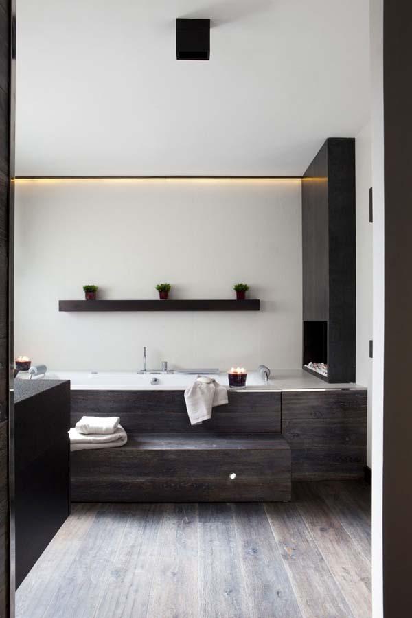 Bathroom Fireplace Ideas-16-1 Kindesign