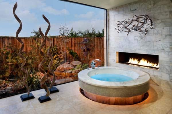 Bathroom Fireplace Ideas-24-1 Kindesign