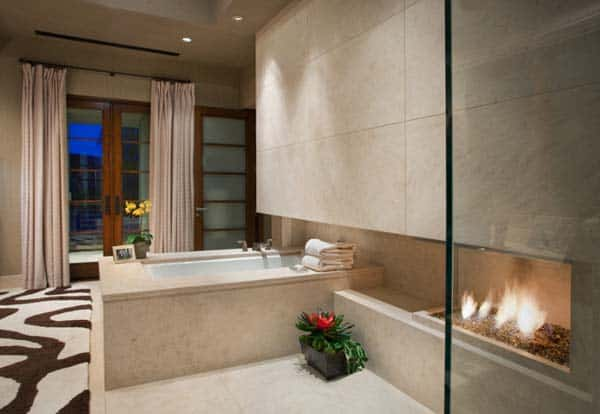 Bathroom Fireplace Ideas-26-1 Kindesign