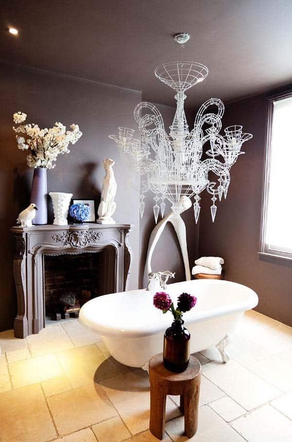 Bathroom Fireplace Ideas-49-1 Kindesign