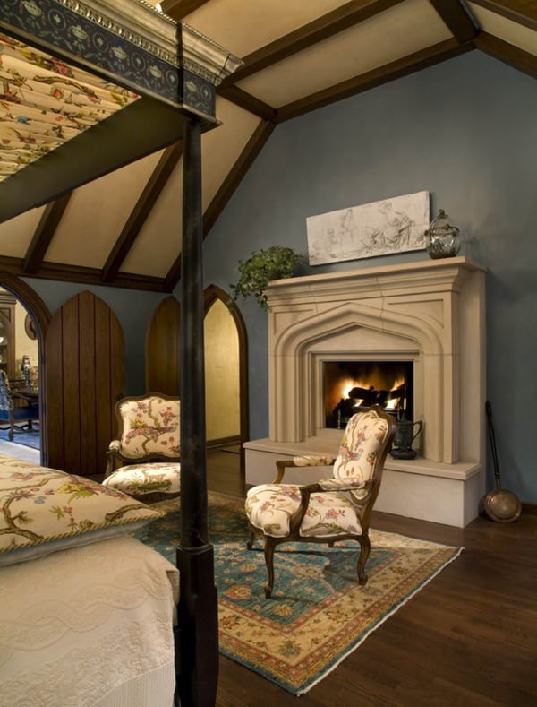 55 spectacular and cozy bedroom fireplaces for Tudor style fireplace
