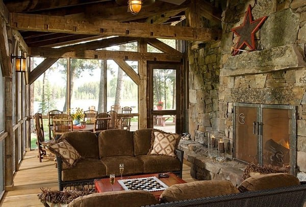 Rustic Modern Barn In The Swan Mountain Range