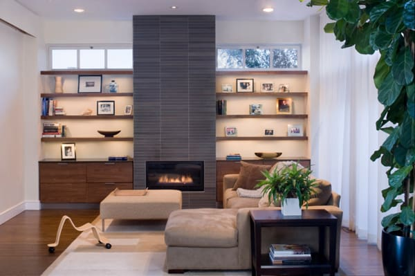featured posts image for 56 Clean and modern showcase fireplace designs