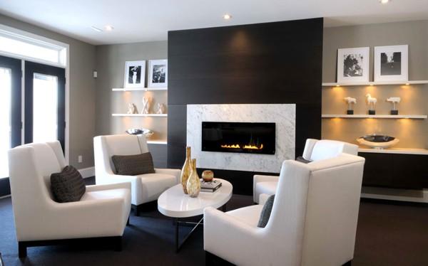 Modern Fireplace Design Ideas-07-1 Kindesign