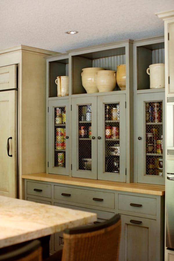 53 mind blowing kitchen pantry design ideas for Country kitchen pantry ideas