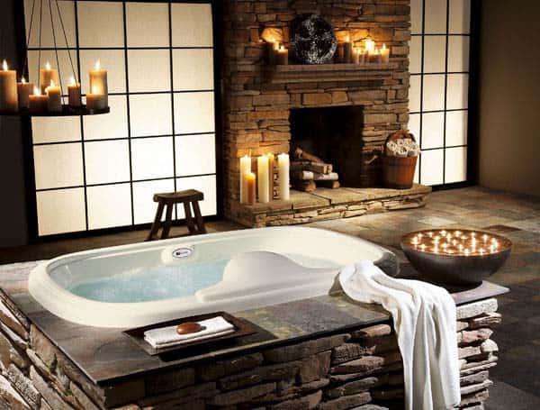 Bathroom Fireplace Ideas-046-1 Kindesign