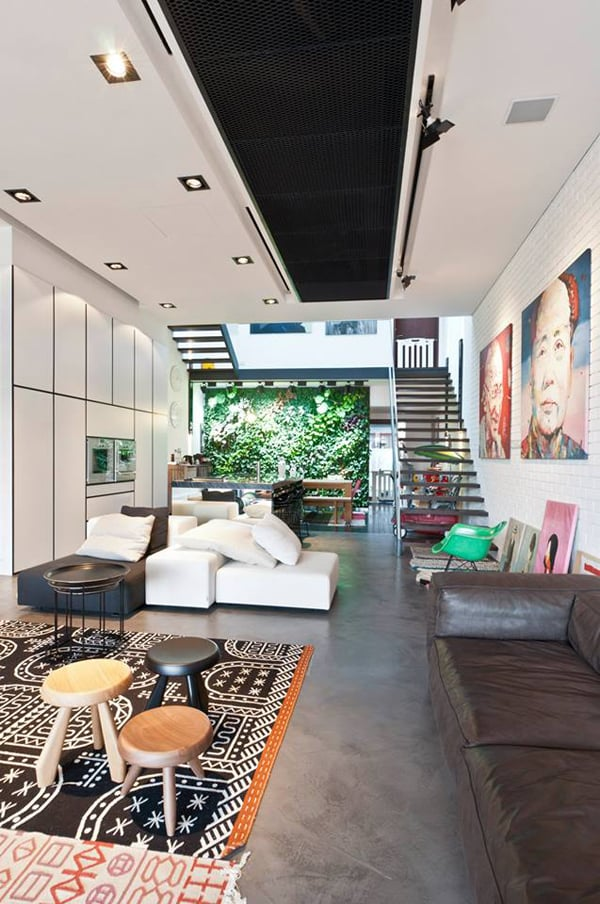 Stylish contemporary home in singapore terrace house for Terrace house singapore