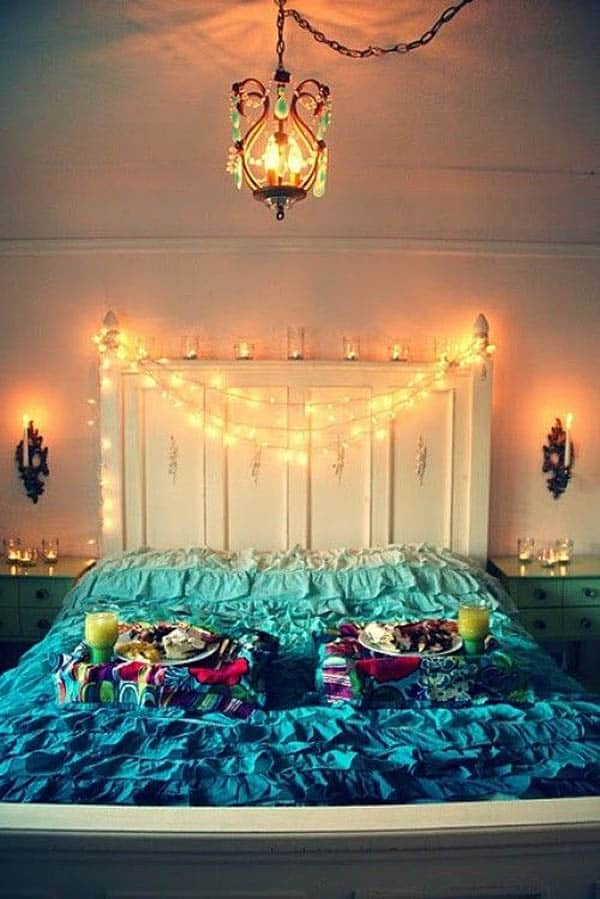 string lights ideas bedroom 66 inspiring ideas for lights in the bedroom 17437
