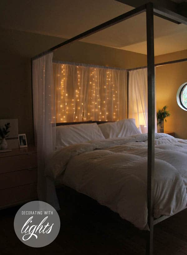66 inspiring ideas for christmas lights in the bedroom 15100 | christmas lights in bedroom 54 1 kindesign