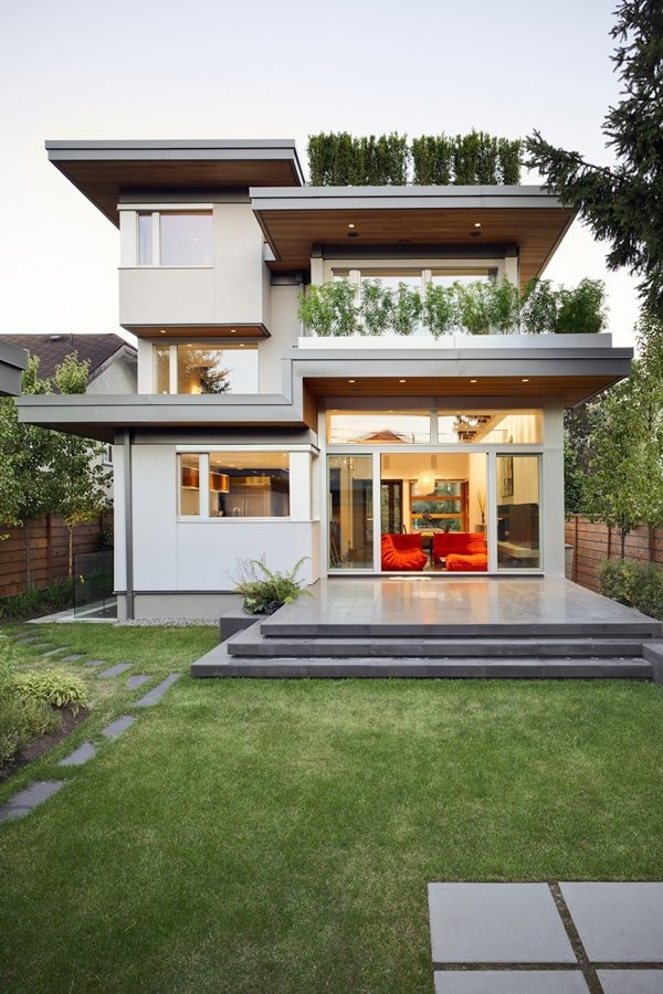 Sustainable modern home design in vancouver for Simple but modern house design