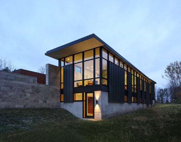 featured posts image for Modern refuge surrounded by forest in Wisconsin: Fieldstone House