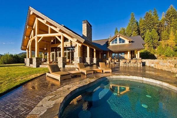 featured posts image for Modern Okanagan log home evoking a warm rustic feel