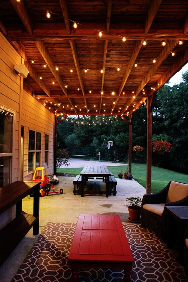 String Lights Across Patio : Moved Permanently