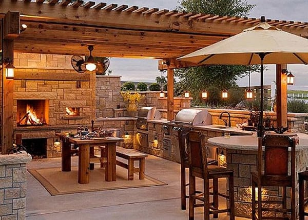 70 awesomely clever ideas for outdoor kitchen designs for Backyard kitchen design ideas