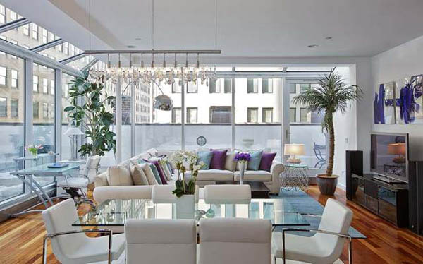 featured posts image for Light-flooded TriBeCa Penthouse incorporating Feng Shui