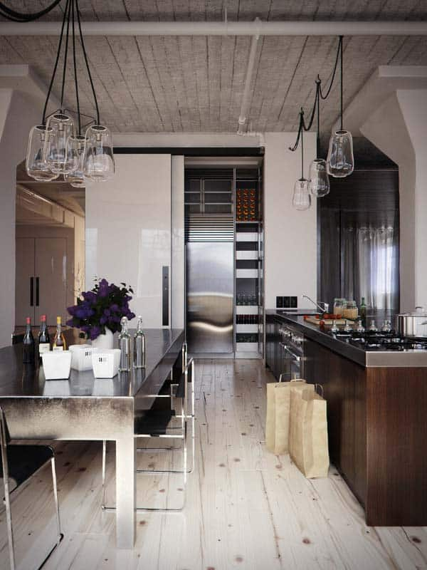 Industrial Kitchen Designs-28-1 Kindesign