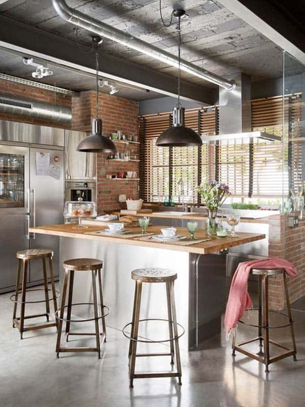 Industrial Kitchen Designs-42-1 Kindesign