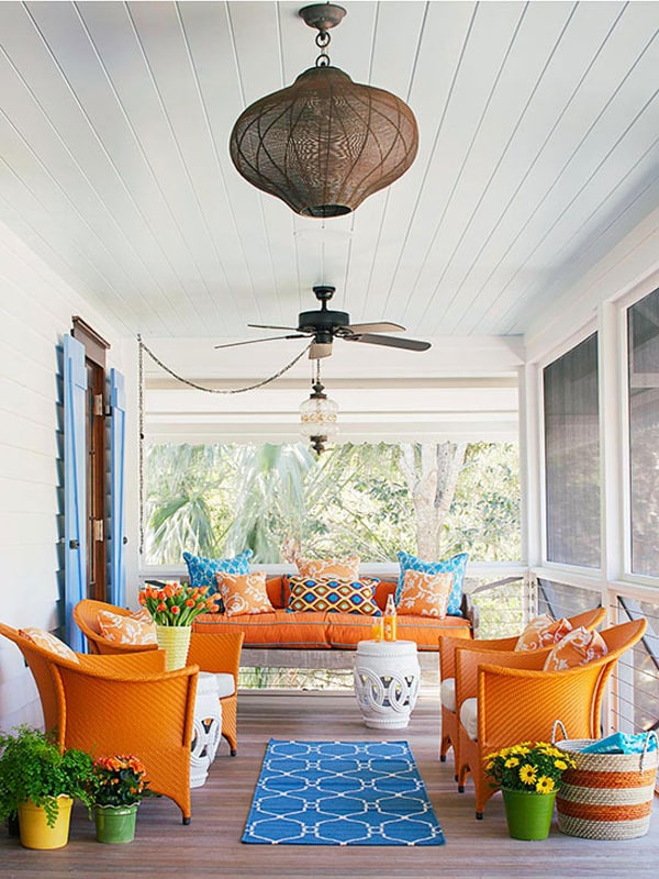 58 Amazing bright and colorful outdoor living spaces on Colorful Patio Ideas id=80361