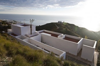 AA House on a platform overlooking the Mediterranean Sea