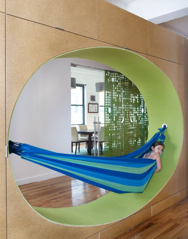 unusual ceiling ideas - GoGo squeeZ office in NYC showcases playful custom decals