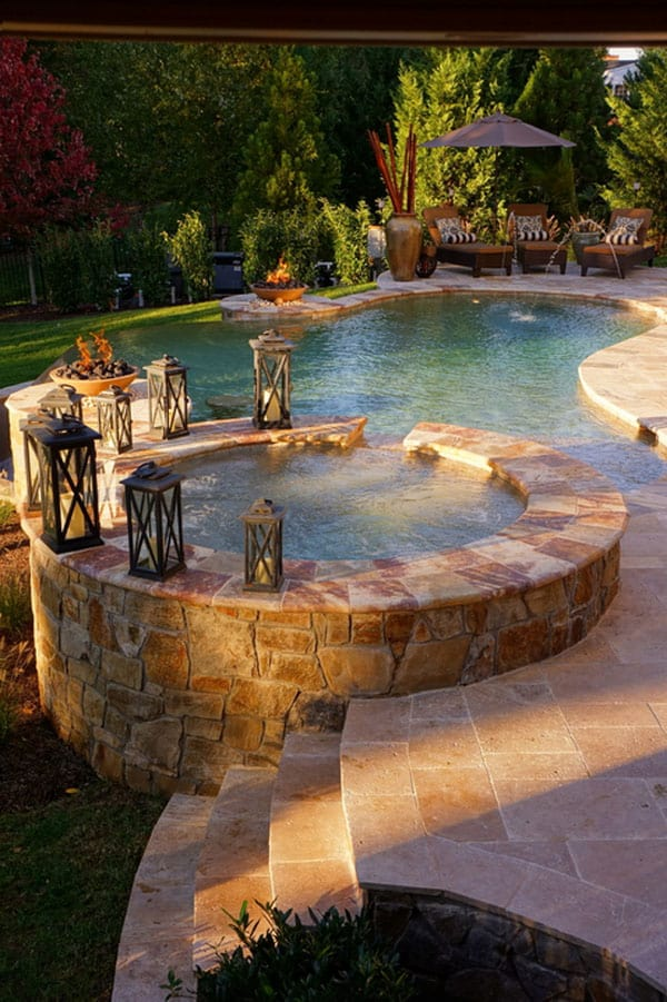 Backyard Hot Tub Patio Designs : HGTV dream home 2012 features an incredible sixseat hot tub design